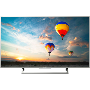 Televizor LED Smart Ultra HD, 109cm, Sony BRAVIA KD-43XE8077S, Argintiu